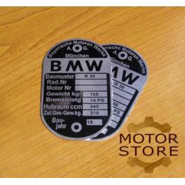 TABLICZKA ZNAMIONOWA BMW R35